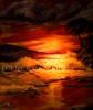 Ölbild Sonnenuntergang