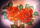 Ölbild: Rose