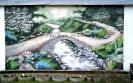 Wandbild Brücke